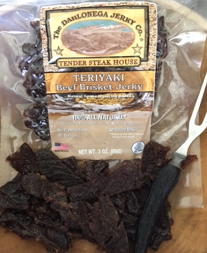 Dahlonega Jerky Co. Tender Steakhouse Teriyaki Brisket Jerky